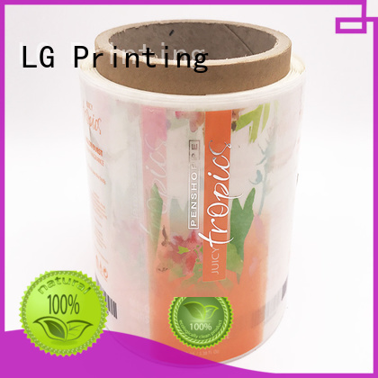 roll Custom waterproof sticker adhesive labels LG Printing stickers