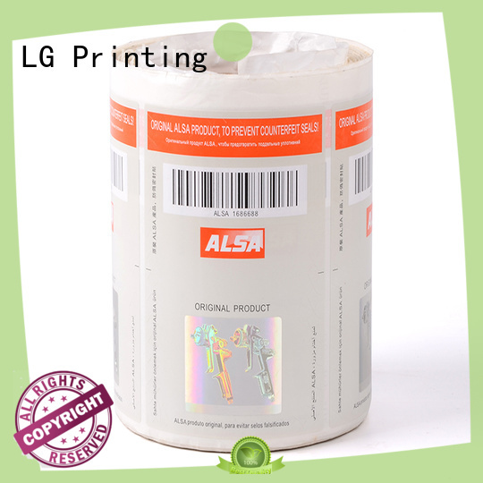 serial security sticker printing foil factory for bag