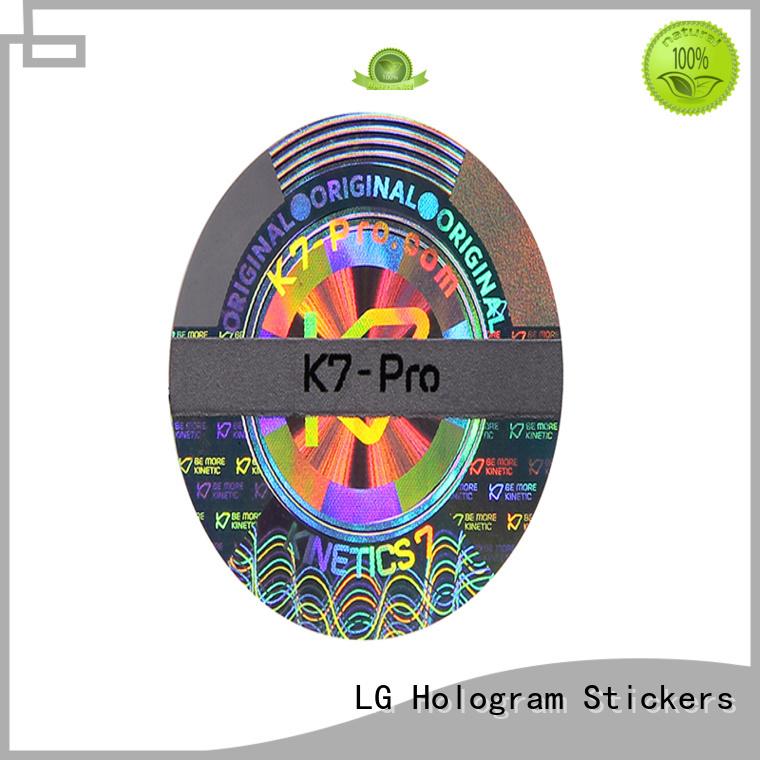 LG Printing numbering custom hologram sticker series for table