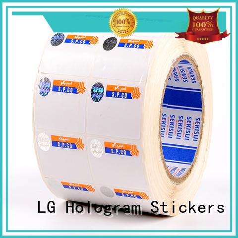 LG Printing positioned genuine secure hologram supplier for goods