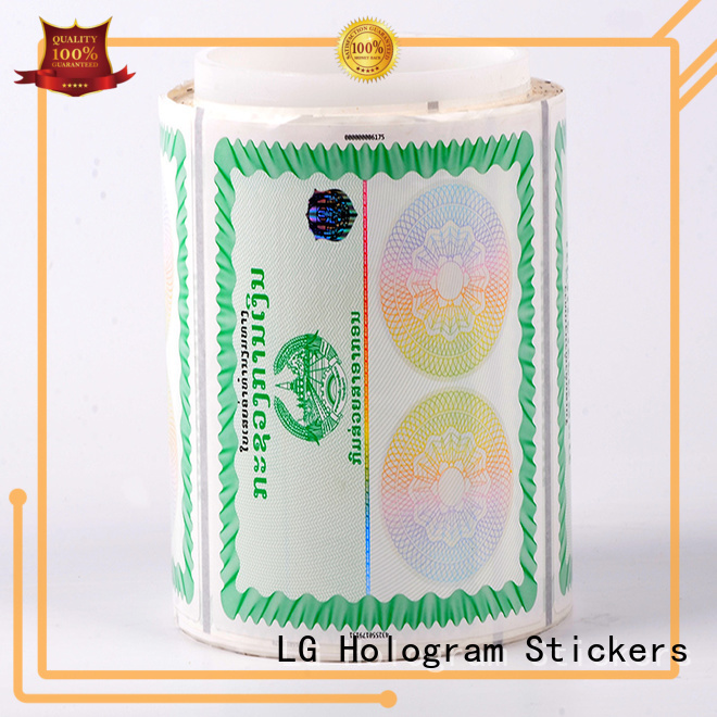 counterfeiting hologram label number series for bag