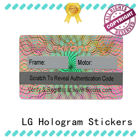 LG Printing authentic holo sticker logo for box