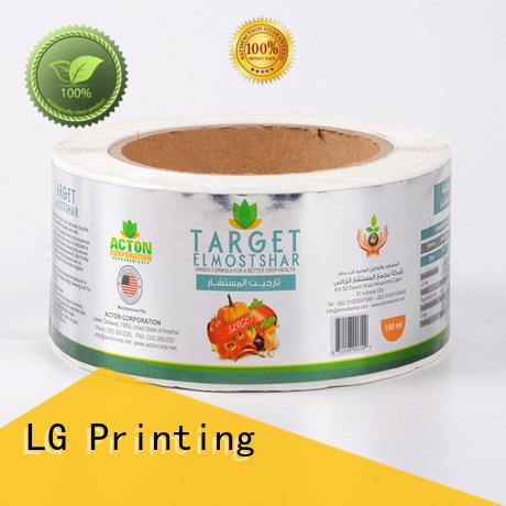 Hot adhesive labels pvc logo LG Printing Brand
