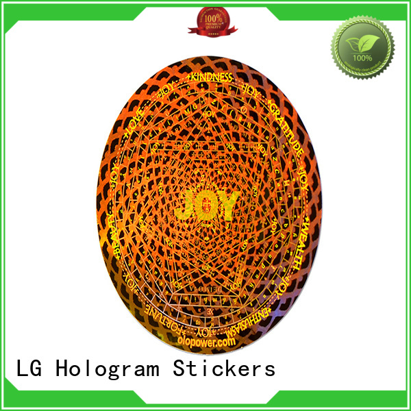 LG Printing numbering hologram supplier series for table