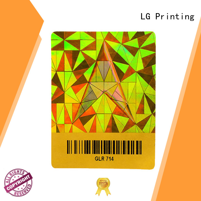 holo stickers color for table LG Printing