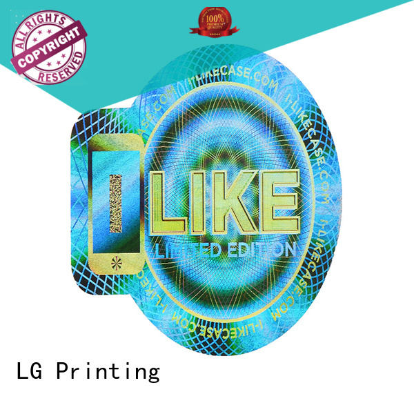 LG Printing authentic roll of custom stickers series for box