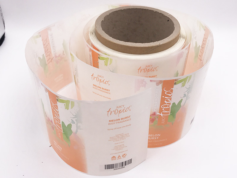 Paper adhesive sticker label for jar