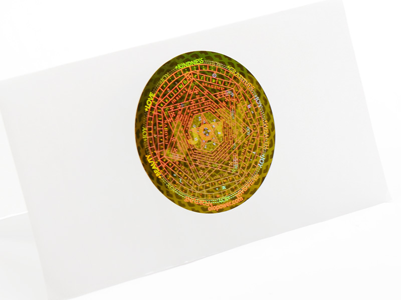 3D Holographic Sticker Hologram Printing