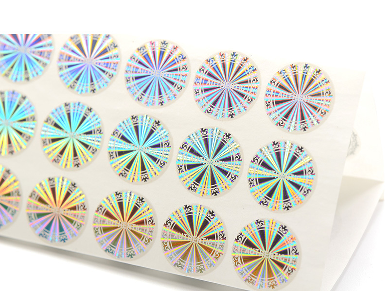 Authentic demelized hologram label sticker