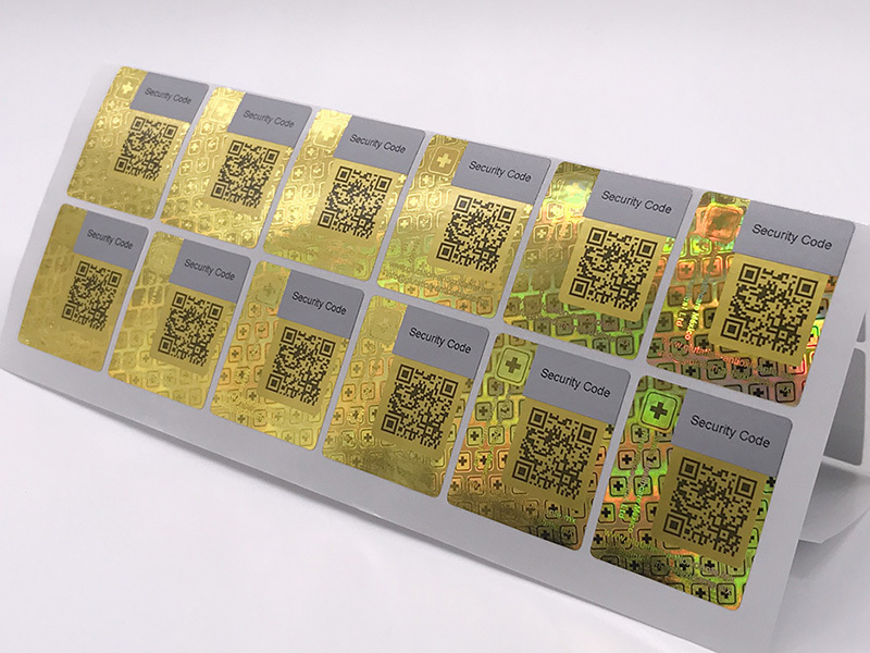 Golden Color Scratched Hologram Sticker Supplier