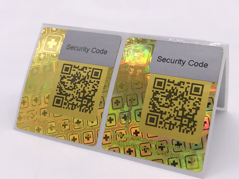 LG Printing authentic hologram sticker gold for table