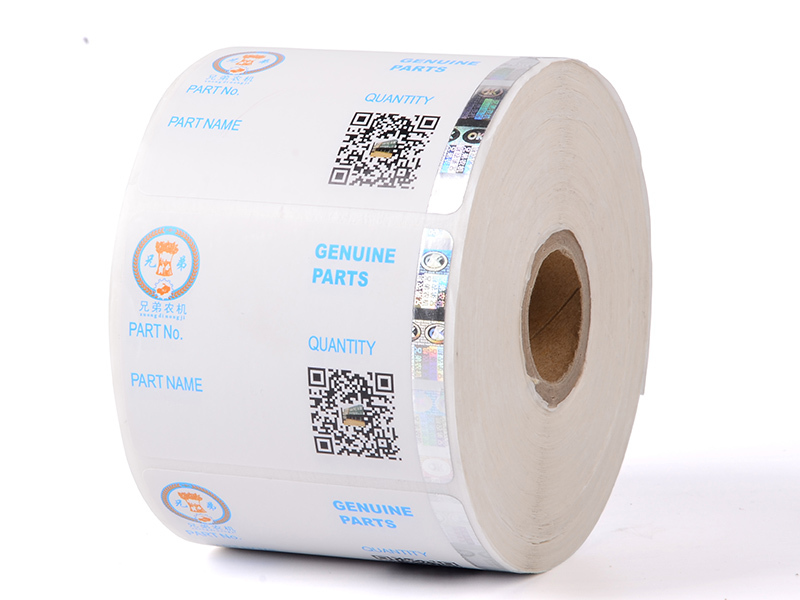 Positioned Stamping Hologram Label 121 Custom Security Stickers