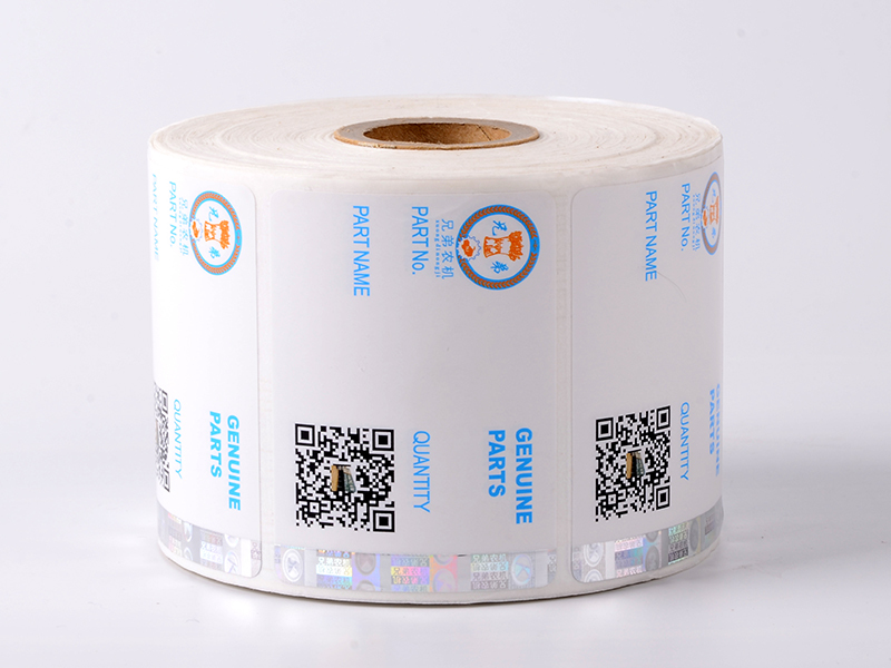 LG Printing stamping small security stickers factory for box