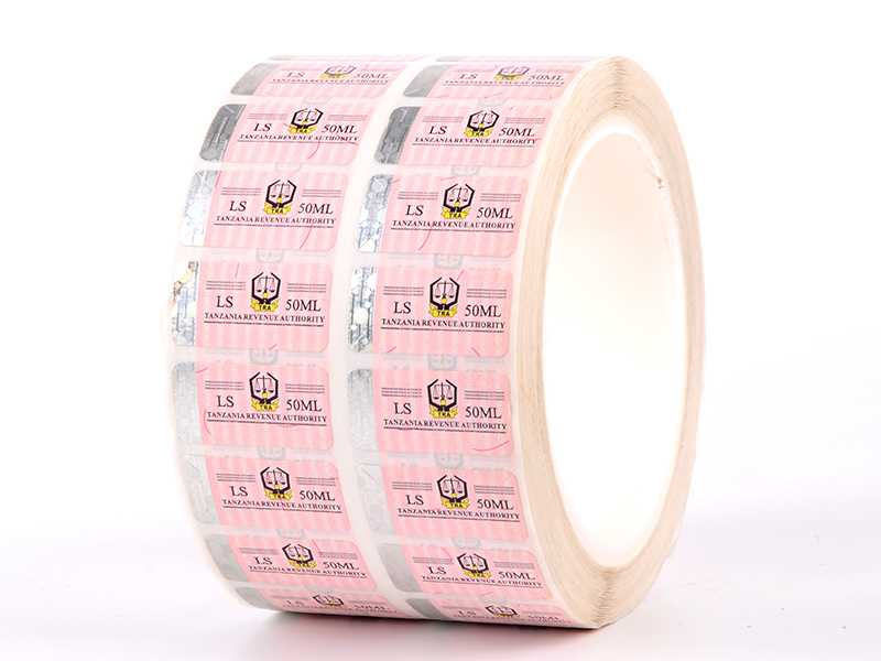 stamping sticker security factory for products LG Printing