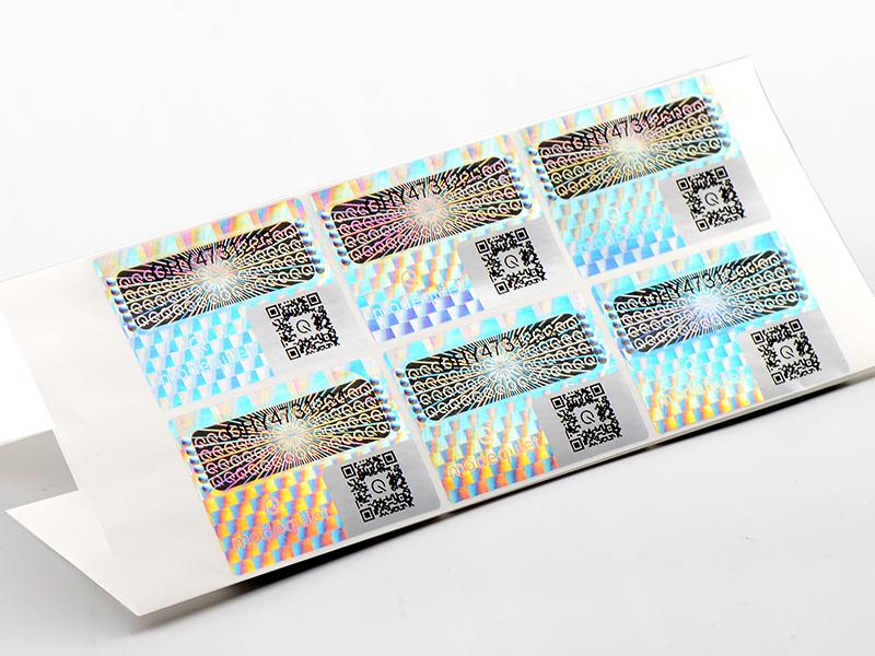 Custom QR Code Hologram Label Authentic Hologram Stickers