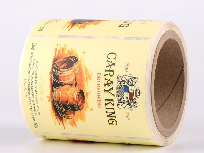 LG Printing silver thermal printing labels factory for cans