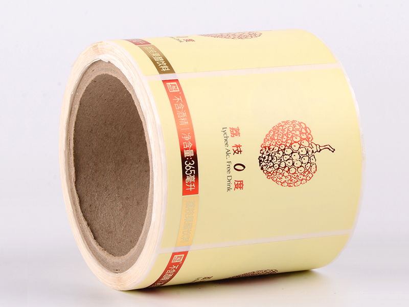 Paper drink & bottle sticker label