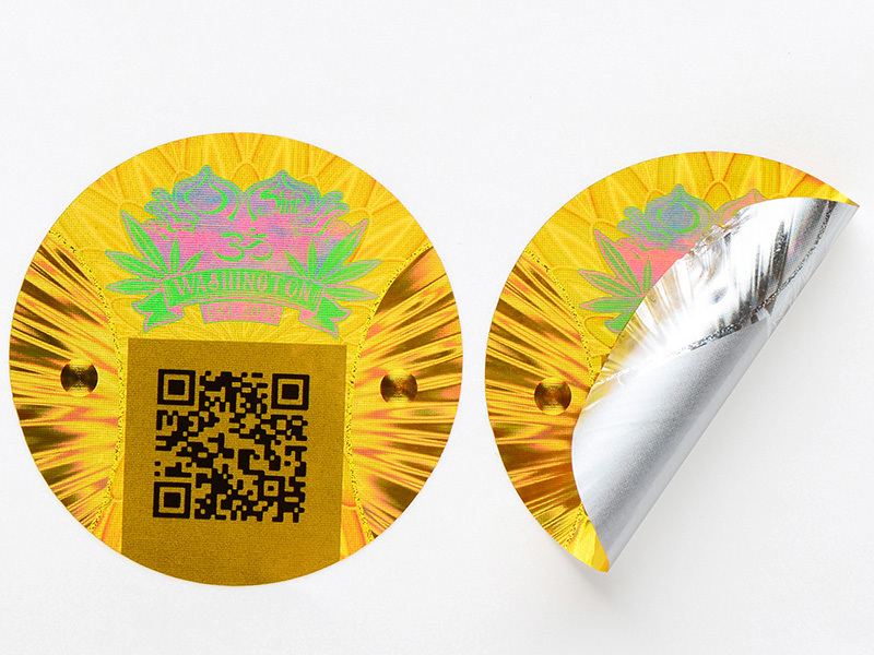 Wine Label Printing 3D Hologram Sticker Clear Sticker Printing