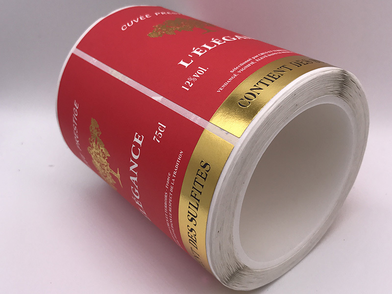 Self-Adhesive Label Sticker For Wine Bottle Clear Sticker Printing