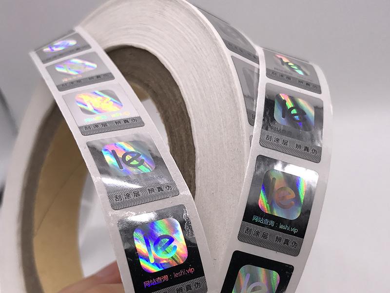 Hologram sticker in roll