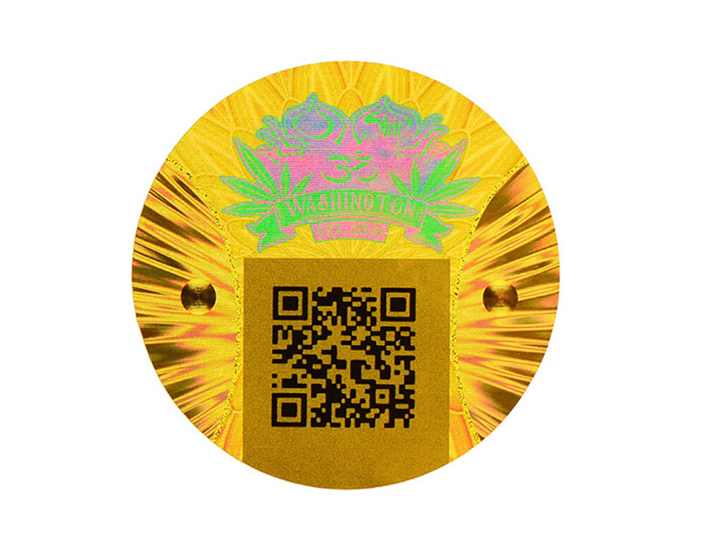 QR code hologram sticker label -2