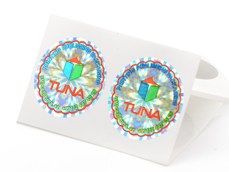 Colorful printined hologram sticker label