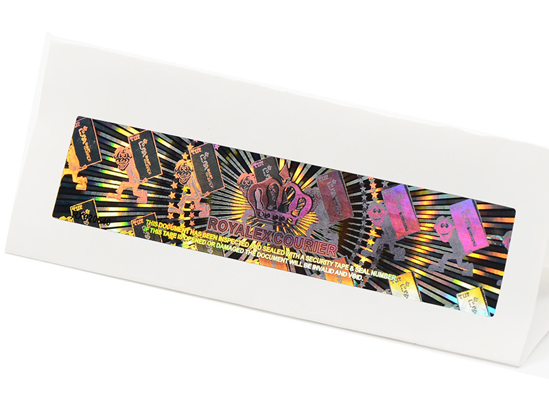 LG Printing scratch off void hologram sticker series for box