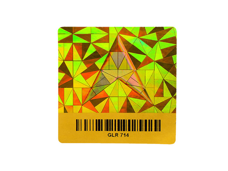 3D Hologram Holo Stickers With Bar Code Number