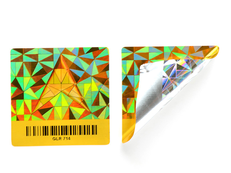 round 3d hologram sticker label for box