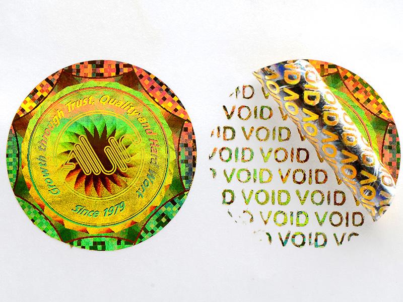 Round hologram void sticker