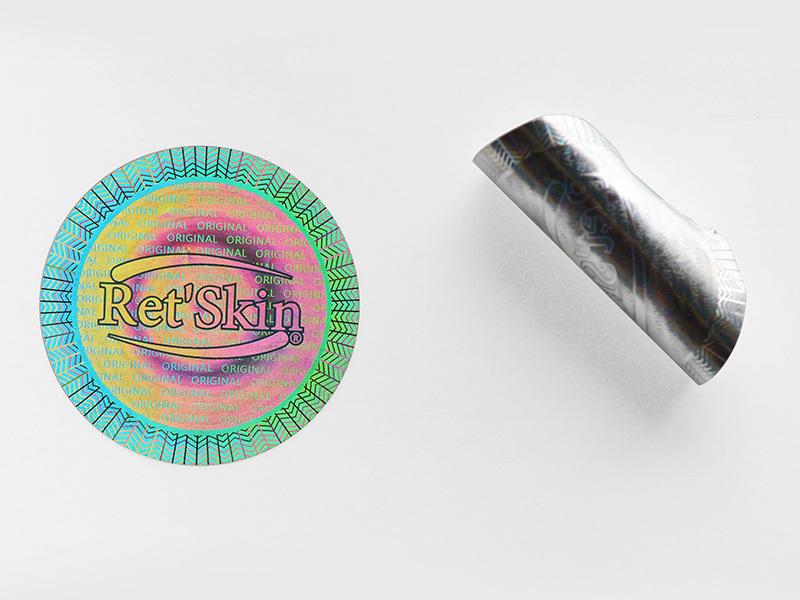 Self-Adhesive Round Hologram Sticker Void Label