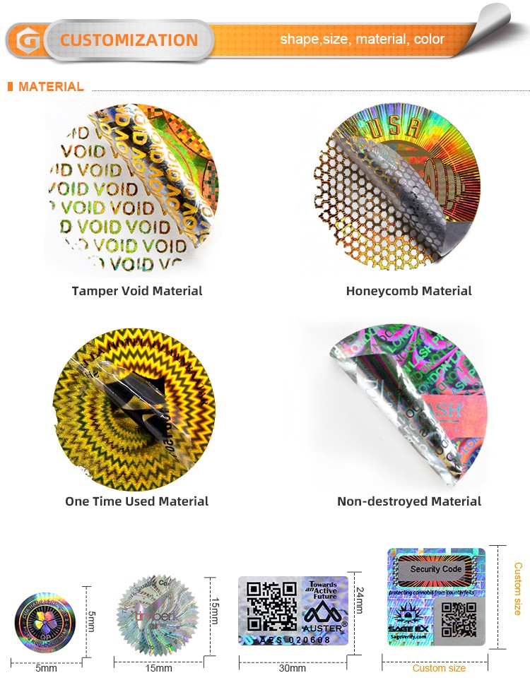 LG Printing Customized hologram sticker printer supply for pharmaceuticals-4
