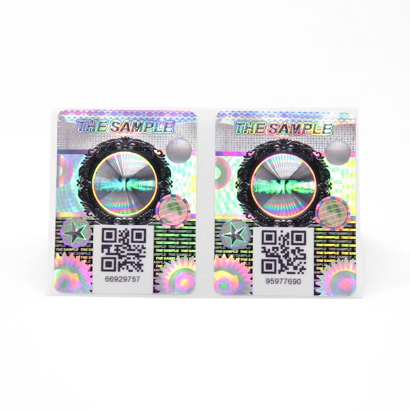 Double Layer Hidden Code Hologram Anti Counterfeit Sticker