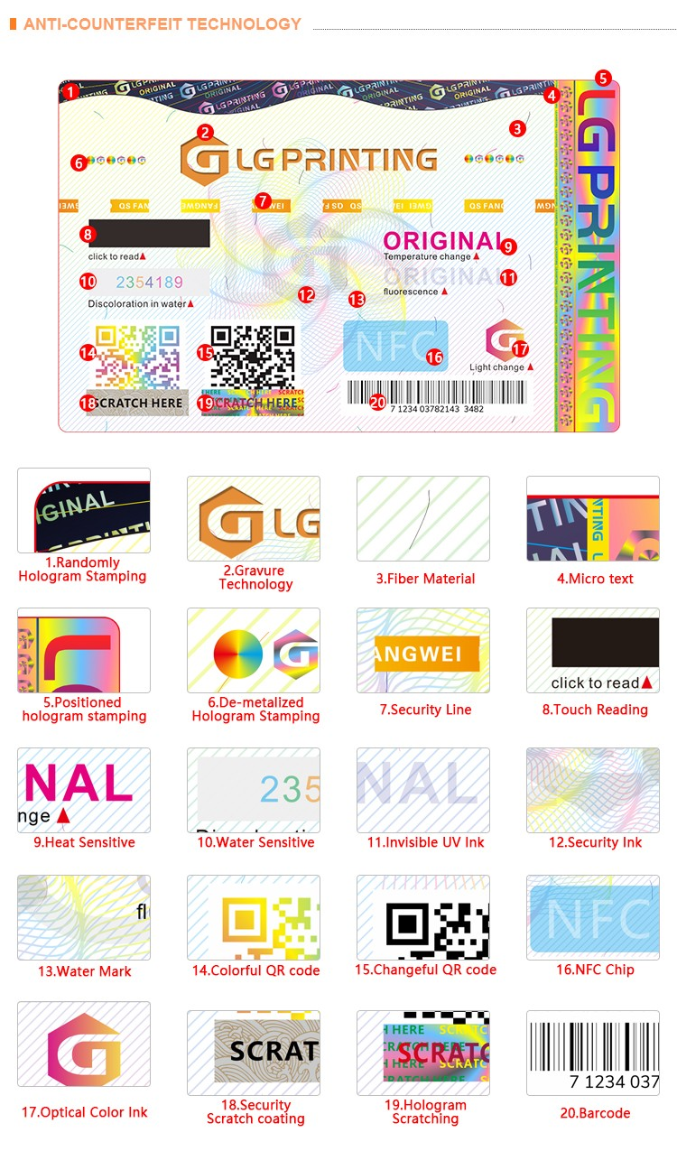 LG Printing Custom brand protection manufacturers for goods-3