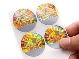 Honeycomb Scratch Off Security Hologram Sticker Printing Labels
