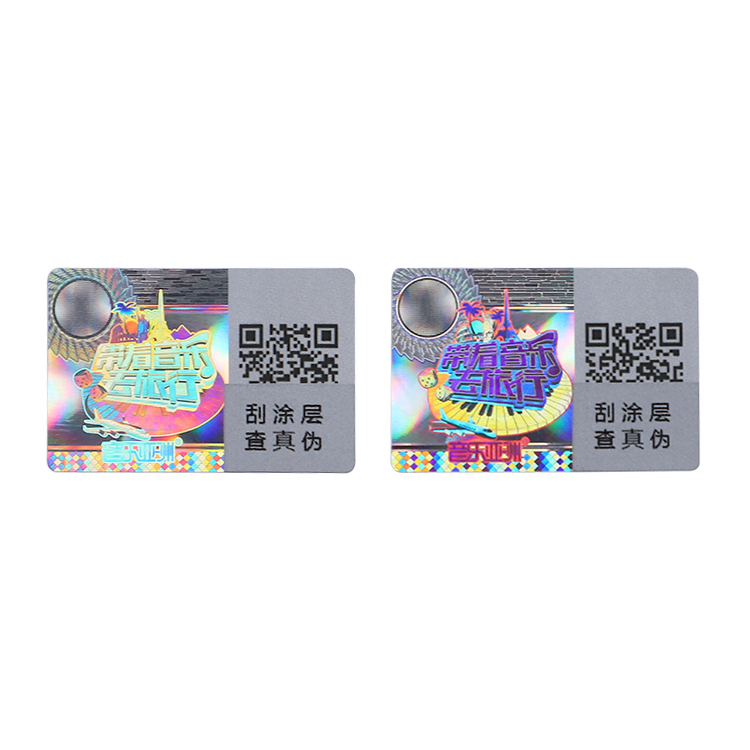 Customized printing holographic stickers one time factory price for garment hangtag-1