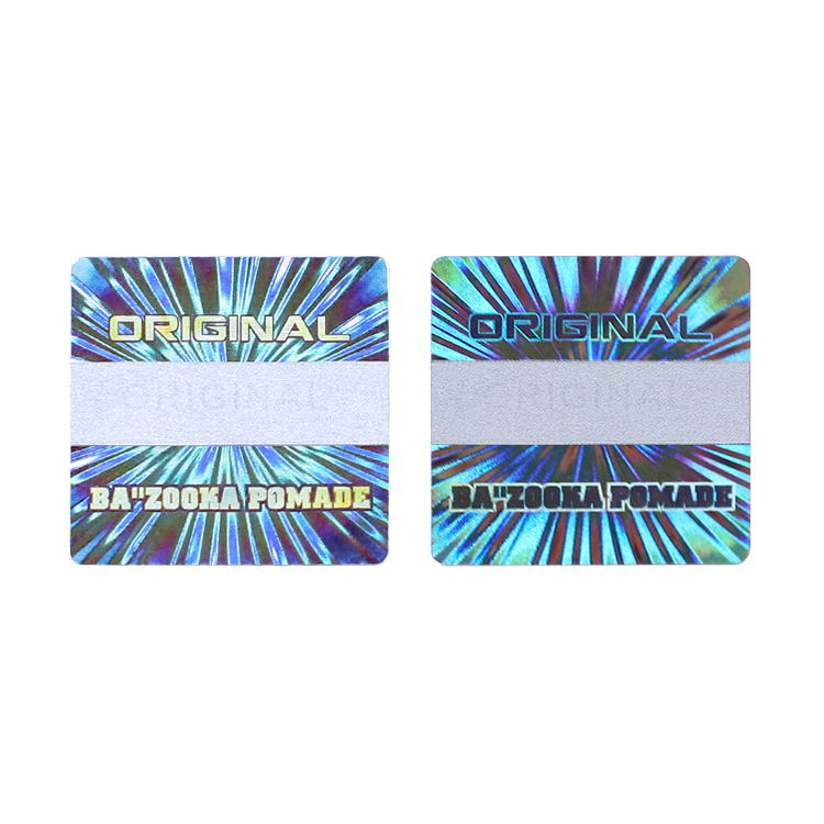 Quality cheap holographic stickers one time factory for garment hangtag-1
