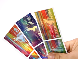 Laser Rainbow Holographic Sticker Label Logo Sticker Printing