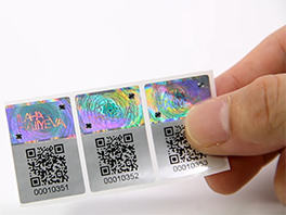 One Time Used Qr Code Hologram Sticker With Serial Number
