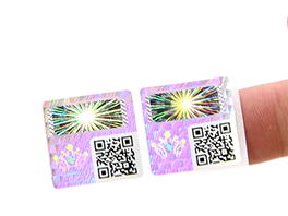 Hologram Void Sticker With QR Code