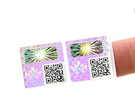Hologram Void Sticker With QR Code