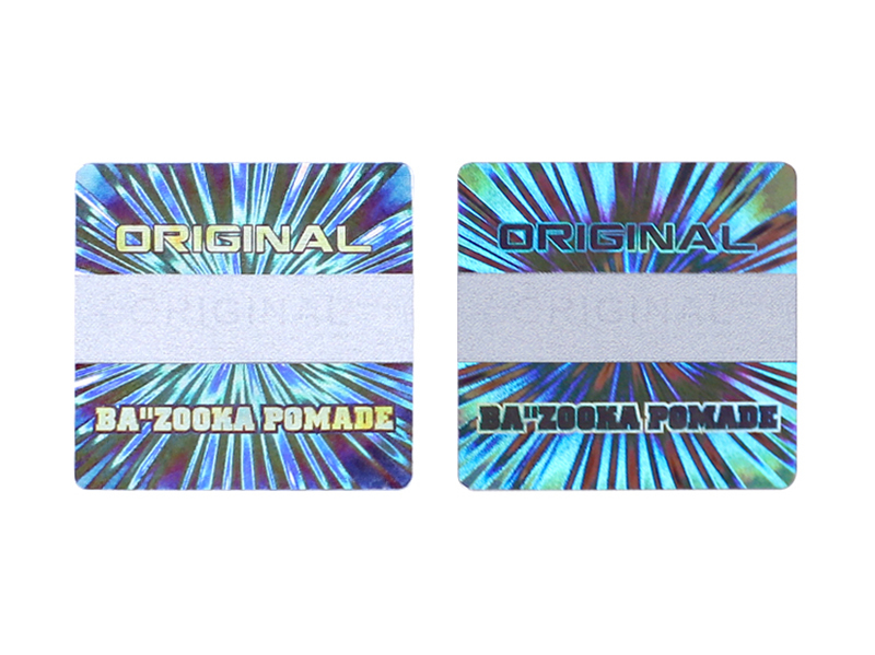 Scratch off original holographic label sticker
