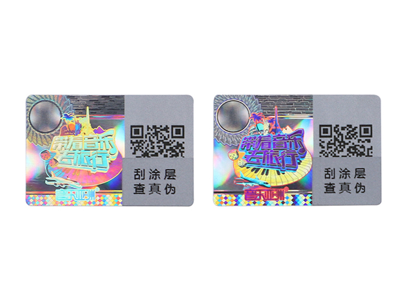 Scratch off anti-counterfeiting hologram sticker