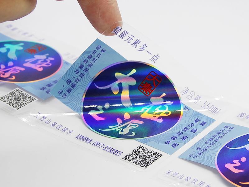 Clear Transparent BOPP Holographic Vinyl Sticker