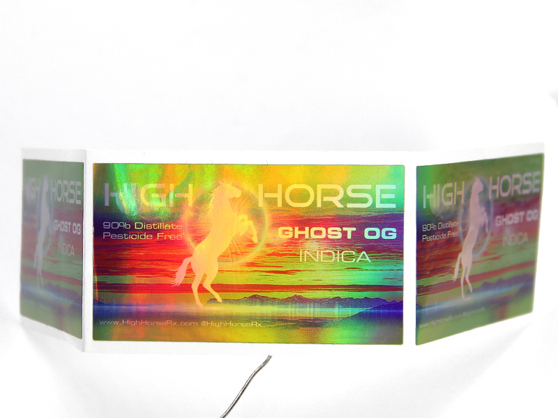 Laser Paper Holographic Vinyl Sticker For Products Bottle