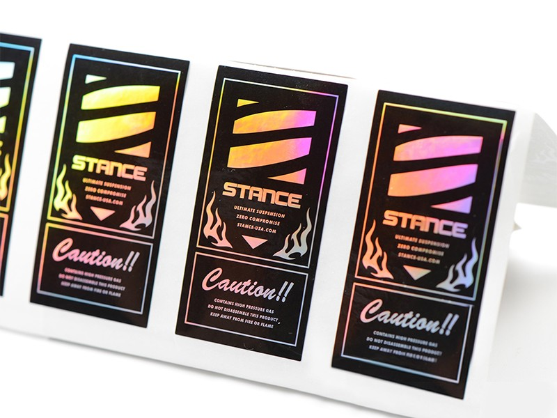 High-quality holographic letter stickers company-1
