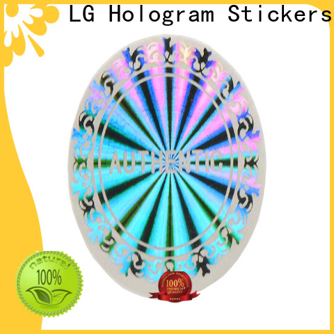 LG Printing round custom sticker hologram logo for table