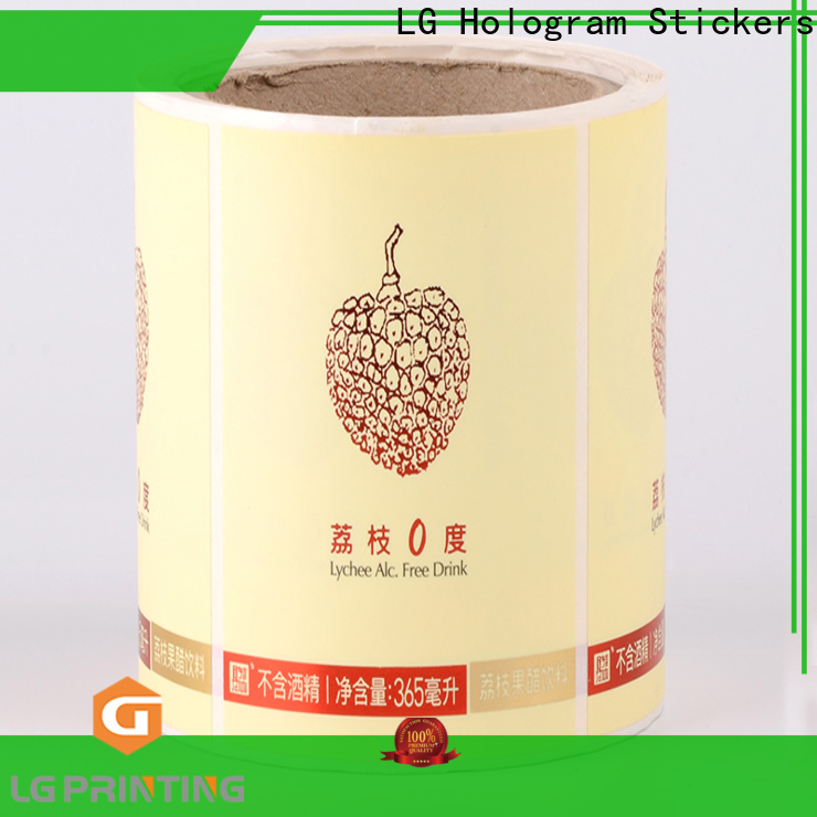 LG Printing red plastic labels factory for wine bottle
