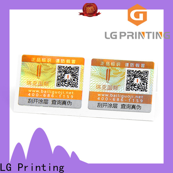 LG Printing Wholesale tamper resistant labels for business for box