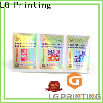 LG Printing Latest hologram security label manufacturers for goods